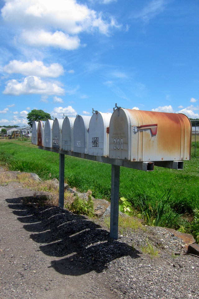 Phalanx of Mailboxes