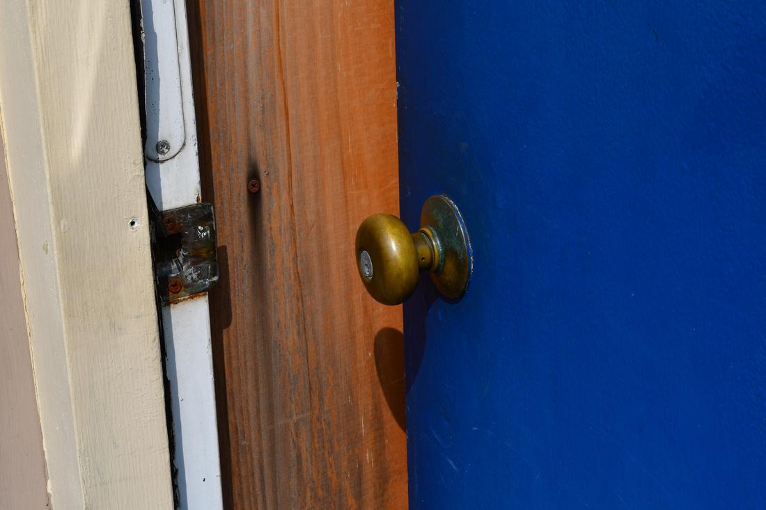 Blue Door Open