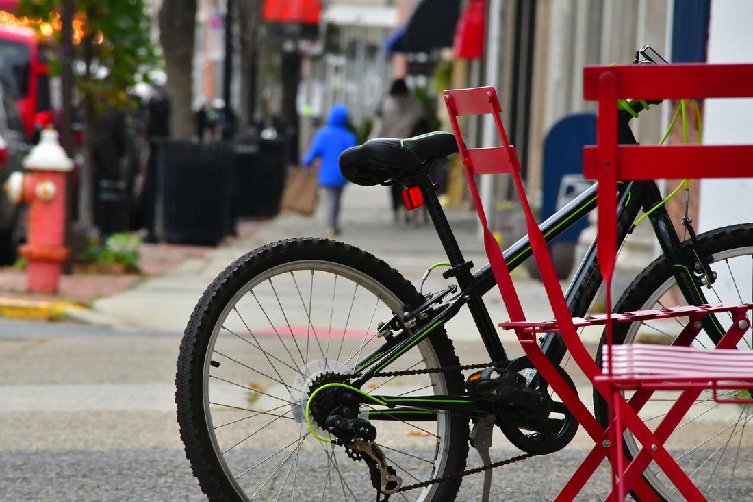 Chairs and Bike